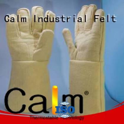 37cm Finger shape 500℃ 37cm 3.5Grade Calm Industrial Felt Kevlar gloves 3.5Grade