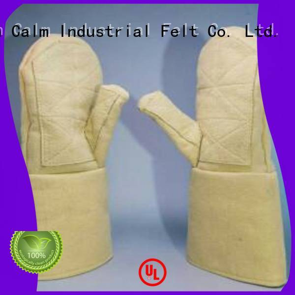 500℃ Finger shape Calm Industrial Felt Kevlar gloves