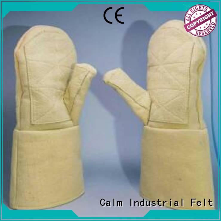 Kevlar gloves for metal casting 37cm 500℃ 3.5Grade Finger shape Calm Industrial Felt