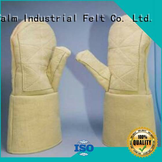Finger shape 3.5Grade Kevlar gloves 500℃ Calm Industrial Felt