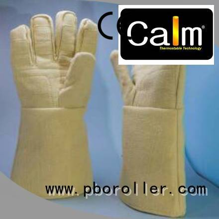 3.5Grade 37cm Finger shape 500℃ Calm Industrial Felt Kevlar gloves