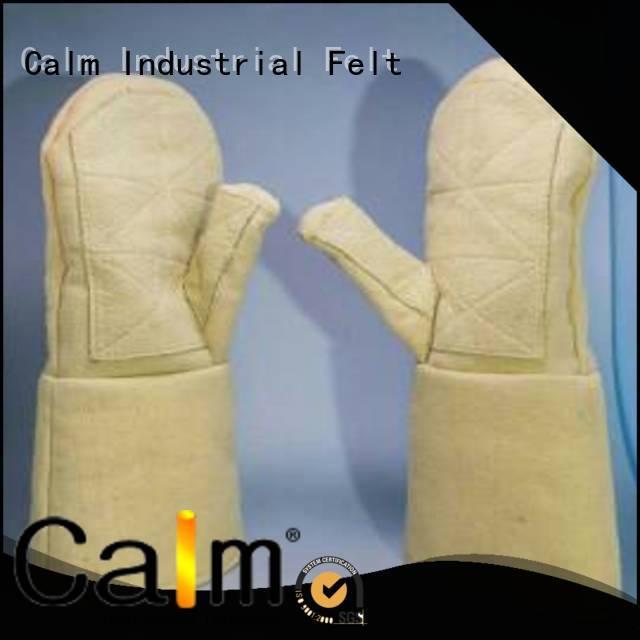 Hot Kevlar gloves for metal casting 3.5Grade Calm Industrial Felt Brand