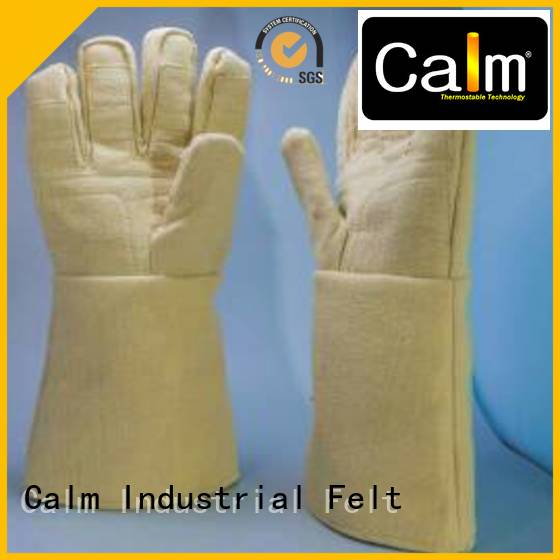 37cm 500℃ Finger shape Kevlar gloves Calm Industrial Felt
