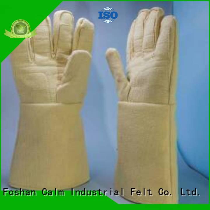 37cm 3.5Grade Kevlar gloves for metal casting 37cm Kevlar gloves Calm Industrial Felt