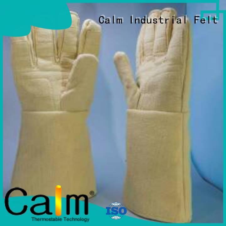 Finger shape 37cm Kevlar gloves 500℃ Calm Industrial Felt