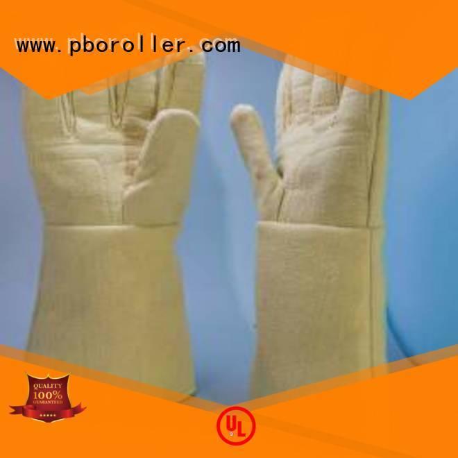 Calm Industrial Felt Kevlar gloves for metal casting 500℃ 3.5Grade Finger shape