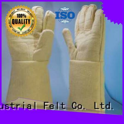 3.5Grade 37cm 500℃ Finger shape Kevlar gloves for metal casting Calm Industrial Felt Brand