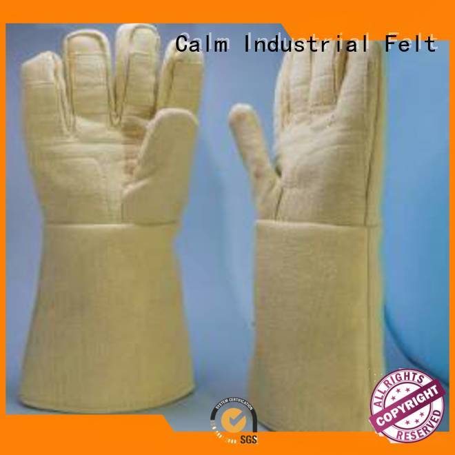 Calm Industrial Felt 37cm Finger shape Kevlar gloves 3.5Grade 500℃