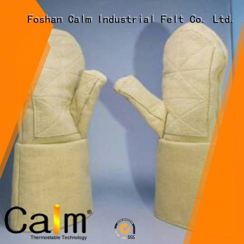Quality Calm Industrial Felt Brand Kevlar gloves for metal casting 37cm 500℃