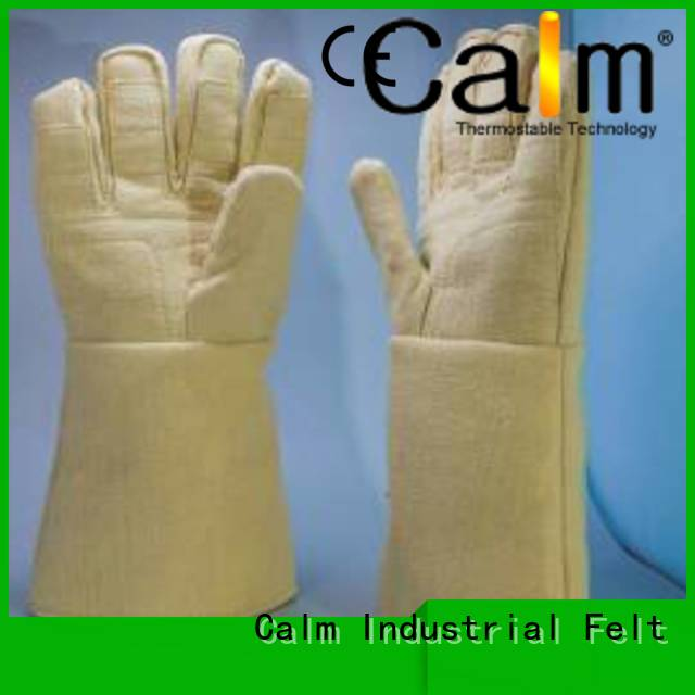 Kevlar gloves for metal casting 500℃ Finger shape Kevlar gloves Calm Industrial Felt Brand