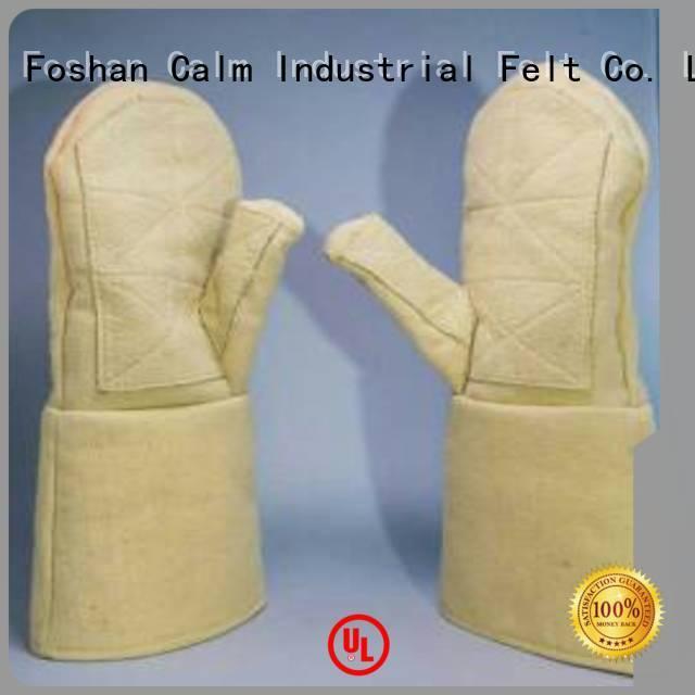 Calm Industrial Felt Brand 3.5Grade 37cm Kevlar gloves for metal casting Finger shape 500℃