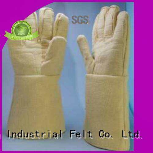 Kevlar gloves for metal casting 37cm 500℃ Kevlar gloves manufacture