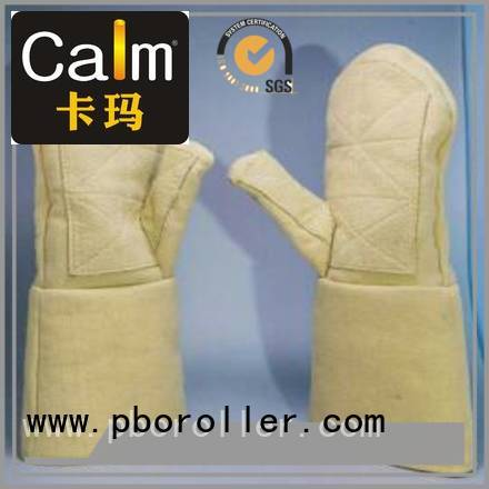37cm 3.5Grade Finger shape Kevlar gloves for metal casting Calm Industrial Felt