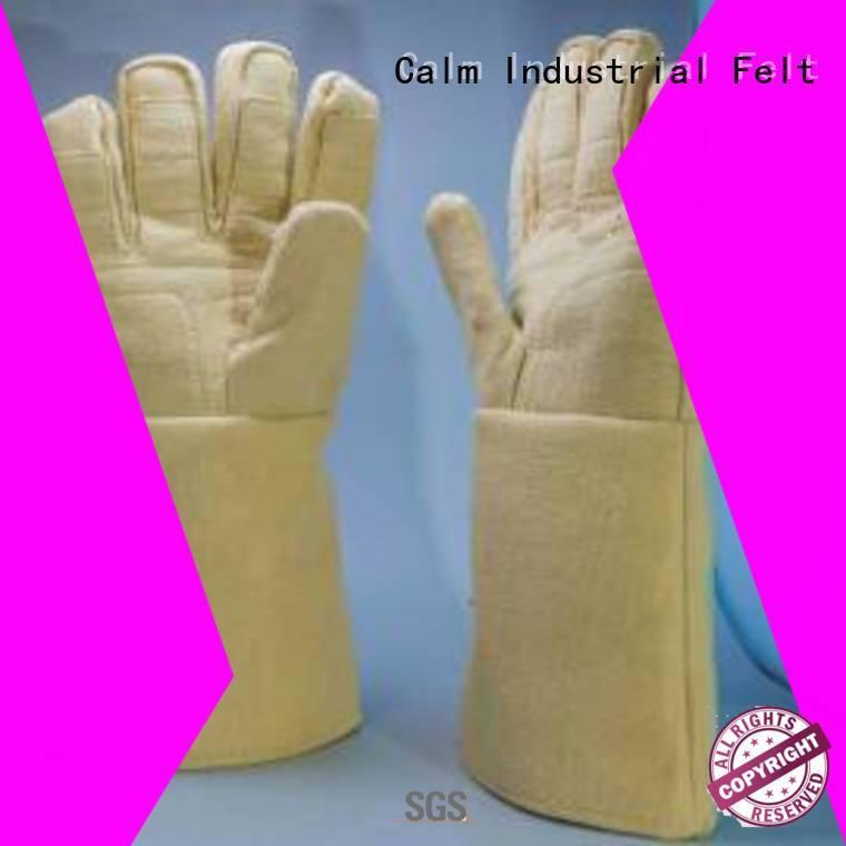 Calm Industrial Felt Kevlar gloves for metal casting 500℃ Finger shape 3.5Grade 37cm