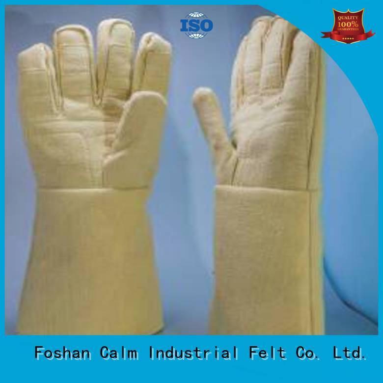 Calm Industrial Felt Kevlar gloves 37cm 3.5Grade Finger shape 500℃
