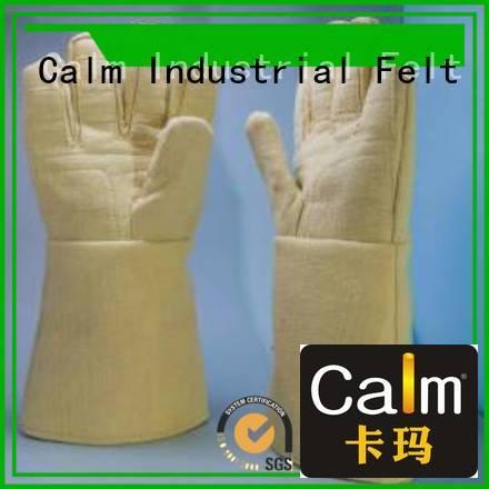 Kevlar gloves for metal casting 37cm Finger shape 500℃ 3.5Grade Bulk Buy
