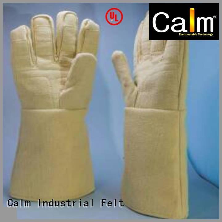 Hot Kevlar gloves for metal casting 500℃ 37cm 3.5Grade Calm Industrial Felt Brand