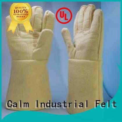 3.5Grade Finger shape 500℃ Kevlar gloves for metal casting Calm Industrial Felt