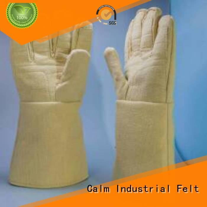 Hot Kevlar gloves for metal casting 3.5Grade 500℃ Finger shape Calm Industrial Felt Brand
