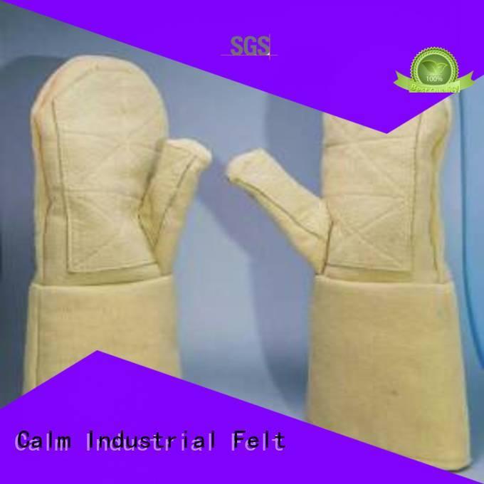 Calm Industrial Felt Brand 3.5Grade Finger shape 500℃ Kevlar gloves 37cm