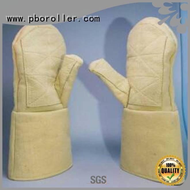 Custom Kevlar gloves 500℃ 3.5Grade 37cm Calm Industrial Felt
