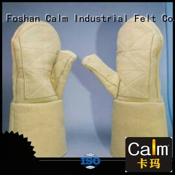 Hot Kevlar gloves for metal casting 3.5Grade Kevlar gloves 500℃ Calm Industrial Felt