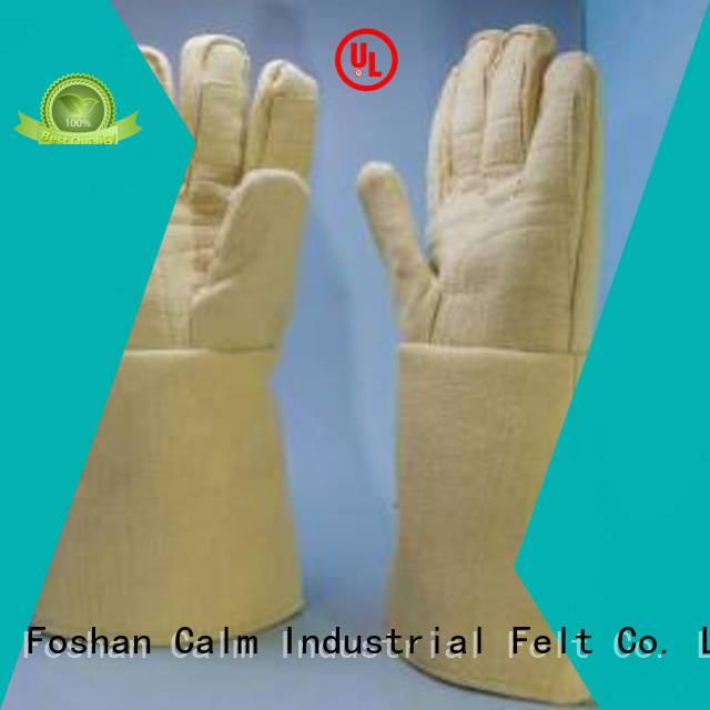 Calm Industrial Felt Kevlar gloves 37cm Finger shape 500℃ 3.5Grade