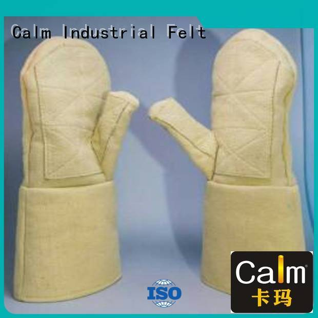 Calm Industrial Felt Brand 37cm 500℃ Kevlar gloves Finger shape 3.5Grade